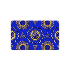 Abstract Mandala Seamless Pattern Magnet (name Card)