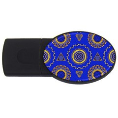 Abstract Mandala Seamless Pattern Usb Flash Drive Oval (4 Gb)