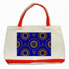 Abstract Mandala Seamless Pattern Classic Tote Bag (Red)