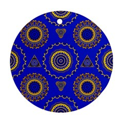 Abstract Mandala Seamless Pattern Round Ornament (Two Sides)