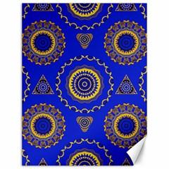 Abstract Mandala Seamless Pattern Canvas 12  X 16