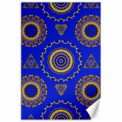 Abstract Mandala Seamless Pattern Canvas 20  X 30