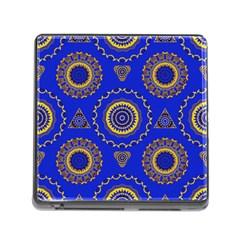 Abstract Mandala Seamless Pattern Memory Card Reader (square)