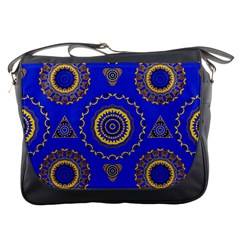 Abstract Mandala Seamless Pattern Messenger Bags