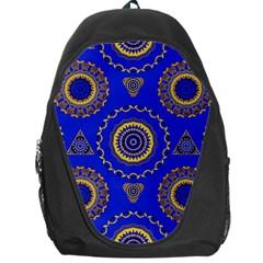 Abstract Mandala Seamless Pattern Backpack Bag
