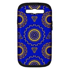 Abstract Mandala Seamless Pattern Samsung Galaxy S III Hardshell Case (PC+Silicone)