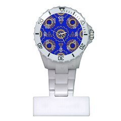 Abstract Mandala Seamless Pattern Plastic Nurses Watch