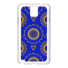 Abstract Mandala Seamless Pattern Samsung Galaxy Note 3 N9005 Case (white)