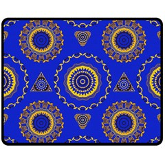 Abstract Mandala Seamless Pattern Double Sided Fleece Blanket (Medium)