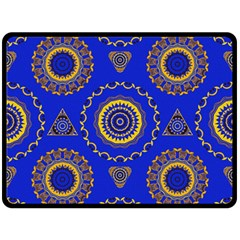 Abstract Mandala Seamless Pattern Double Sided Fleece Blanket (Large)