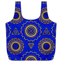 Abstract Mandala Seamless Pattern Full Print Recycle Bags (L)