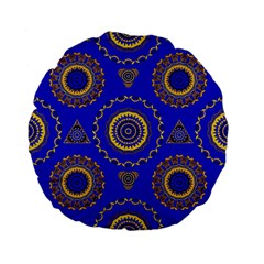Abstract Mandala Seamless Pattern Standard 15  Premium Flano Round Cushions