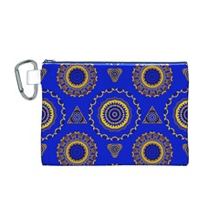 Abstract Mandala Seamless Pattern Canvas Cosmetic Bag (M)