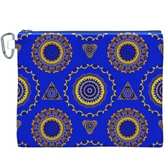 Abstract Mandala Seamless Pattern Canvas Cosmetic Bag (xxxl)