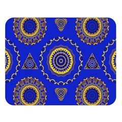 Abstract Mandala Seamless Pattern Double Sided Flano Blanket (large)