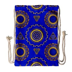 Abstract Mandala Seamless Pattern Drawstring Bag (Large)