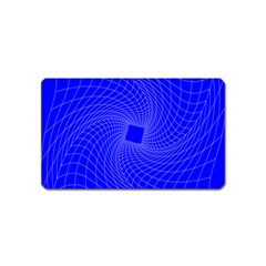 Blue Perspective Grid Distorted Line Plaid Magnet (name Card)