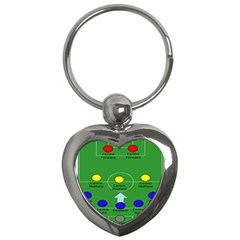 Field Football Positions Key Chains (heart)