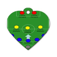 Field Football Positions Dog Tag Heart (two Sides)