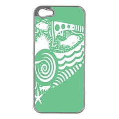 Fish Star Green Apple Iphone 5 Case (silver)