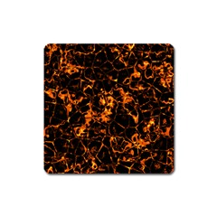 Fiery Ground Square Magnet