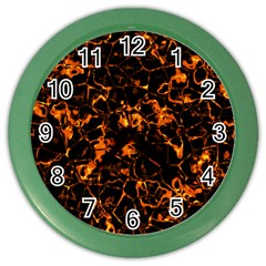 Fiery Ground Color Wall Clocks