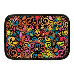 Chisel Carving Leaf Flower Color Rainbow Netbook Case (medium)