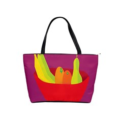 Fruitbowl Llustrations Fruit Banana Orange Guava Shoulder Handbags