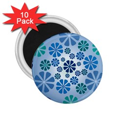 Geometric Flower Stair 2 25  Magnets (10 Pack)