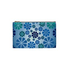 Geometric Flower Stair Cosmetic Bag (small)