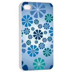 Geometric Flower Stair Apple Iphone 4/4s Seamless Case (white)