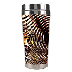 Gold Waves Circles Water Wave Circle Rings Stainless Steel Travel Tumblers