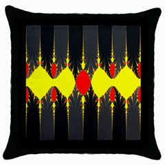 Hyperbolic Complack  Dynamic Throw Pillow Case (black)
