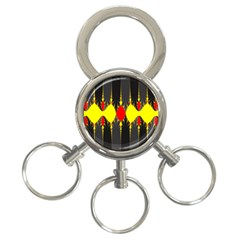 Hyperbolic Complack  Dynamic 3 Ring Key Chains