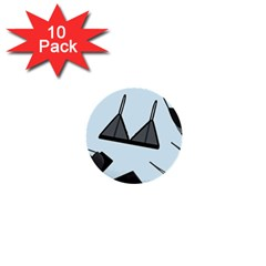 Grown Ups Guide To Underwear Opener Black Blue 1  Mini Buttons (10 Pack)
