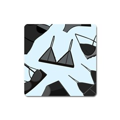 Grown Ups Guide To Underwear Opener Black Blue Square Magnet