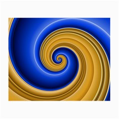 Golden Spiral Gold Blue Wave Small Glasses Cloth