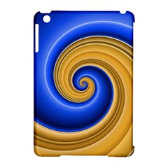 Golden Spiral Gold Blue Wave Apple Ipad Mini Hardshell Case (compatible With Smart Cover)
