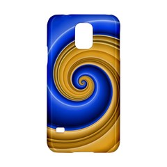 Golden Spiral Gold Blue Wave Samsung Galaxy S5 Hardshell Case