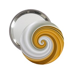 Golden Spiral Gold White Wave 2 25  Handbag Mirrors