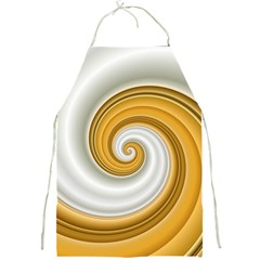 Golden Spiral Gold White Wave Full Print Aprons