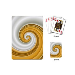 Golden Spiral Gold White Wave Playing Cards (mini)