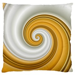 Golden Spiral Gold White Wave Large Cushion Case (one Side)