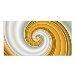 Golden Spiral Gold White Wave Satin Shawl