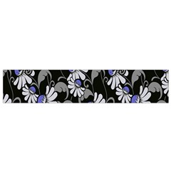 Flourish Floral Purple Grey Black Flower Flano Scarf (small)