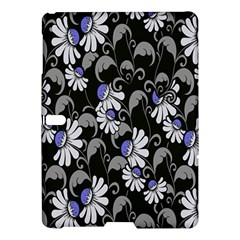 Flourish Floral Purple Grey Black Flower Samsung Galaxy Tab S (10 5 ) Hardshell Case