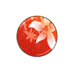 Lily Flowers Graphic White Orange Hat Clip Ball Marker (4 Pack)