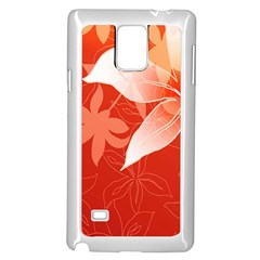 Lily Flowers Graphic White Orange Samsung Galaxy Note 4 Case (white)