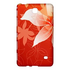 Lily Flowers Graphic White Orange Samsung Galaxy Tab 4 (8 ) Hardshell Case