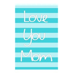 Love You Mom Stripes Line Blue Shower Curtain 48  X 72  (small)